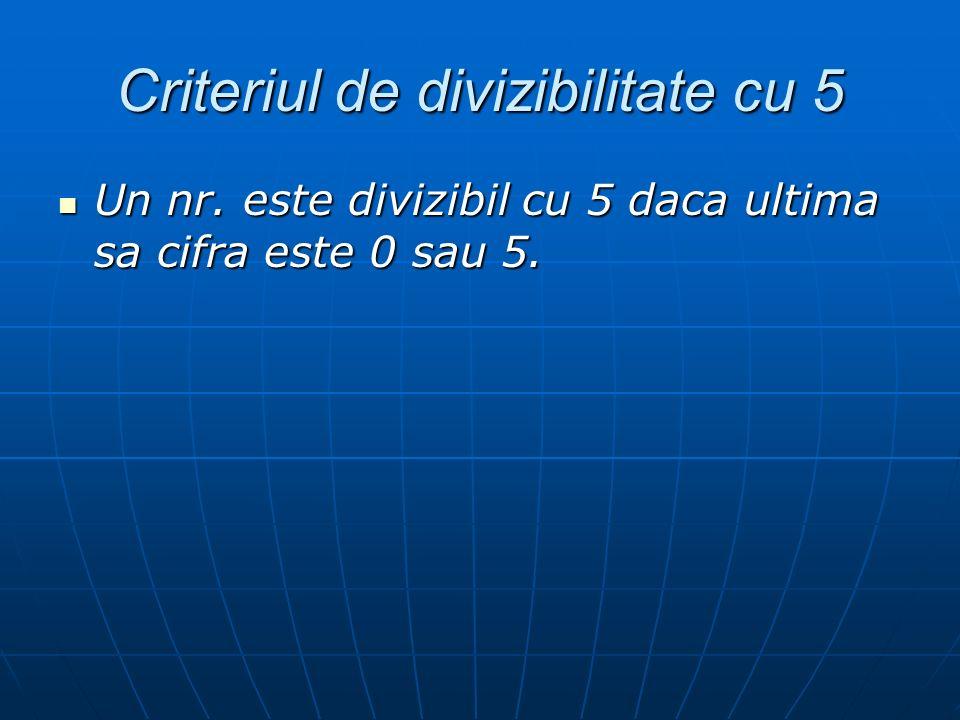 Criteriul de divizibilitate cu 5