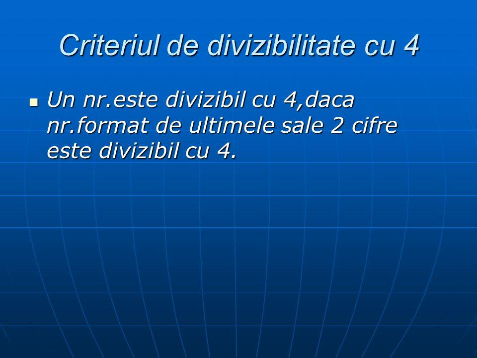 Criteriul de divizibilitate cu 4