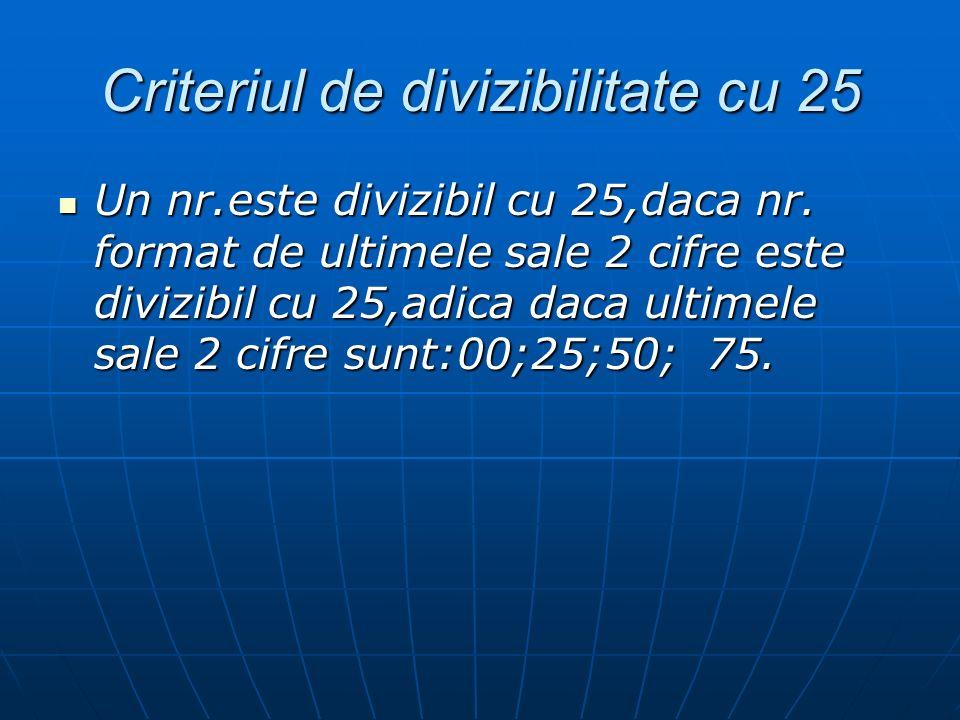Criteriul de divizibilitate cu 25