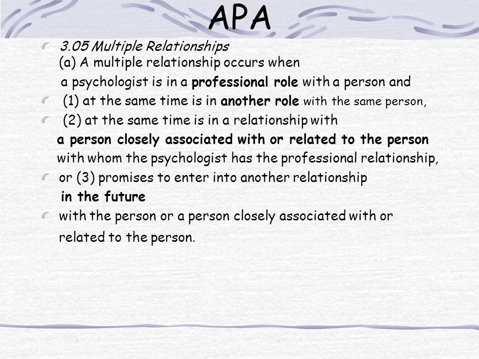 3.05 Multiple Relationships (a) A multiple relationship occurs when