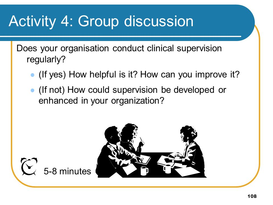 Activity 4: Group discussion