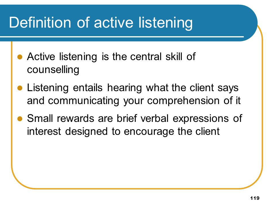 Definition of active listening