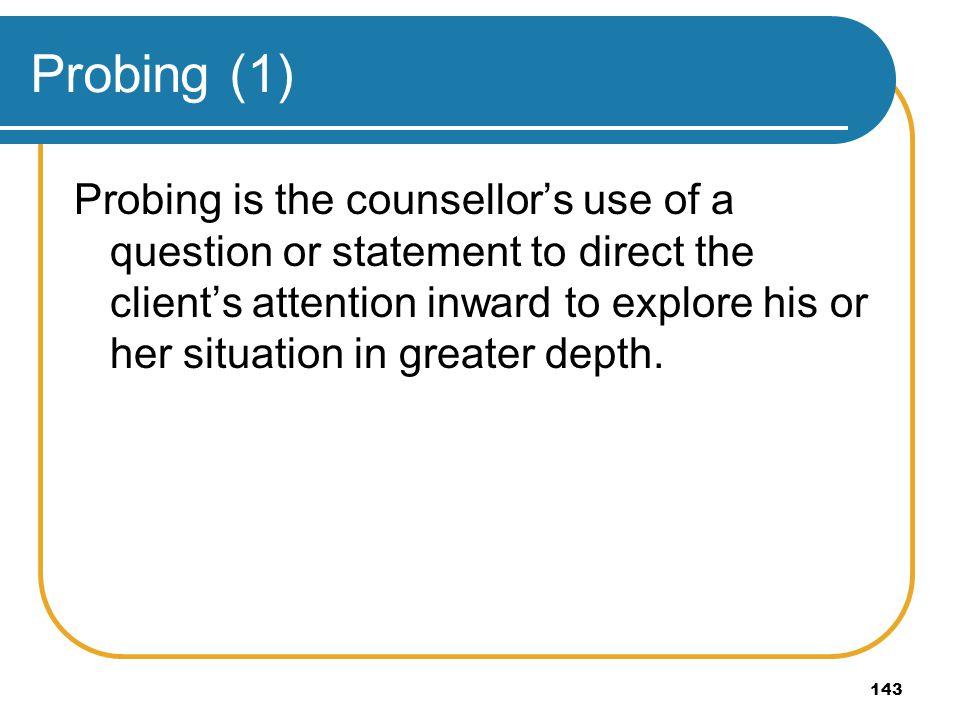 Probing (1)