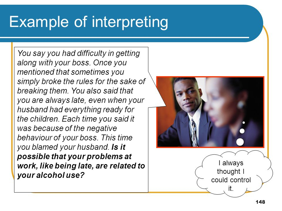 Example of interpreting