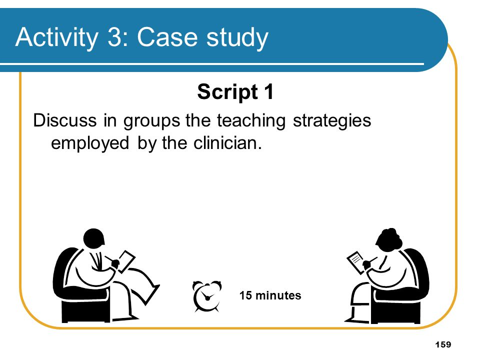 Activity 3: Case study Script 1