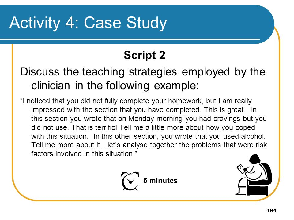 Activity 4: Case Study Script 2