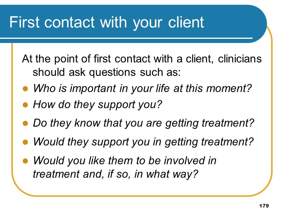 First contact with your client