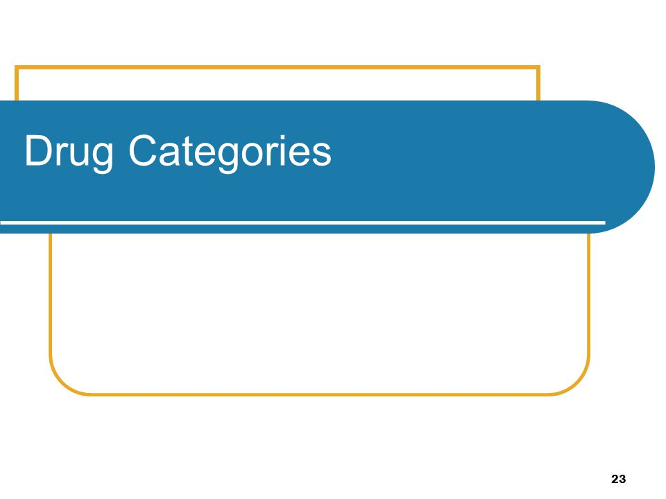 Drug Categories