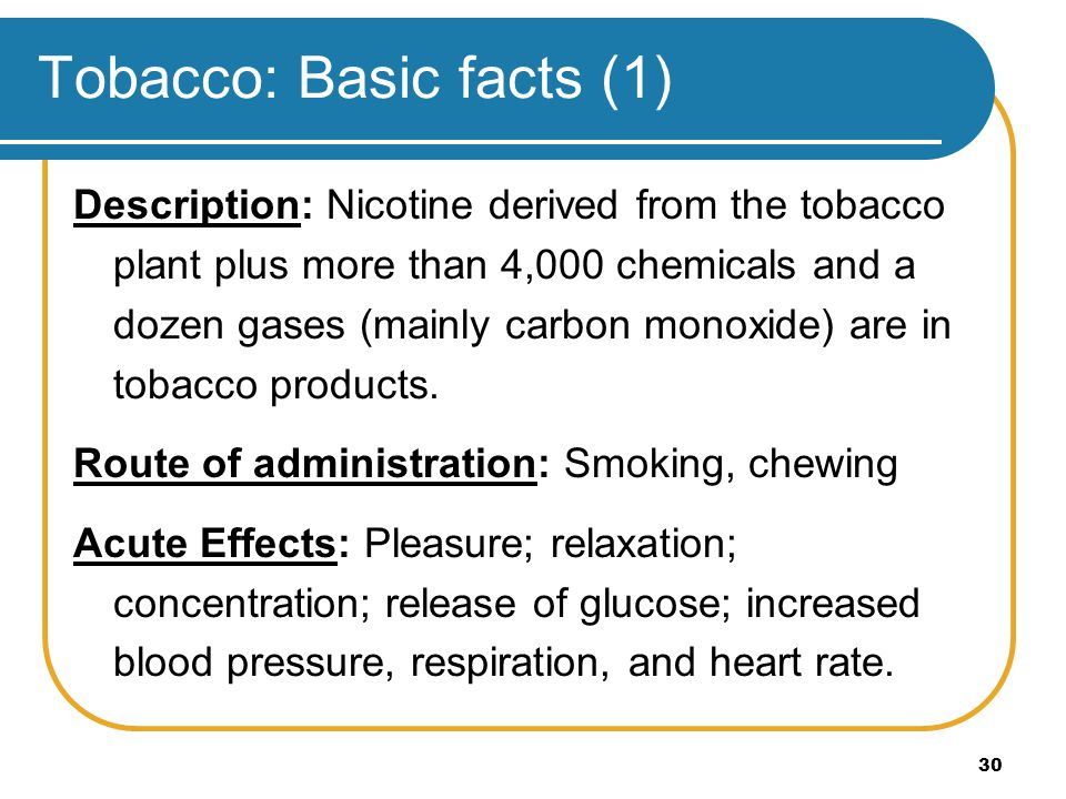 Tobacco: Basic facts (1)