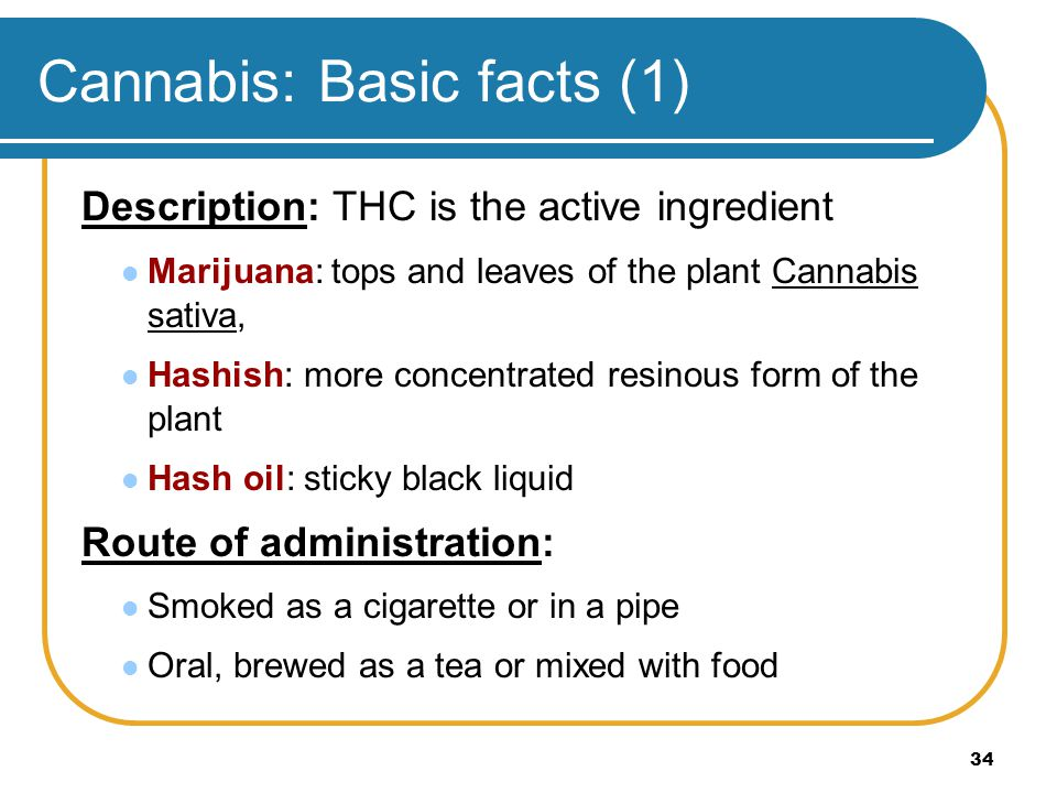 Cannabis: Basic facts (1)
