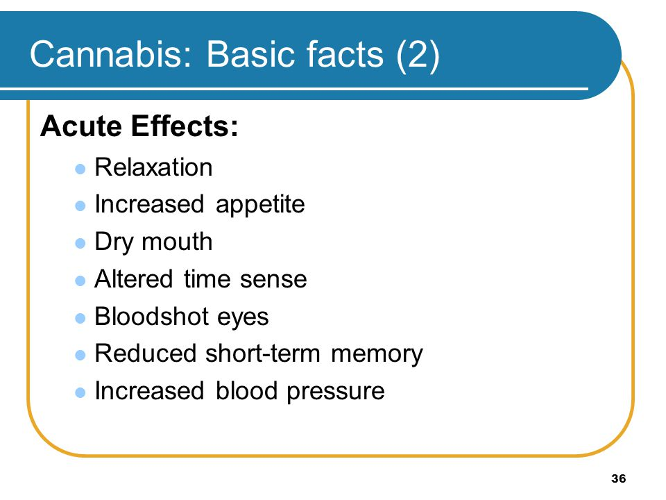 Cannabis: Basic facts (2)