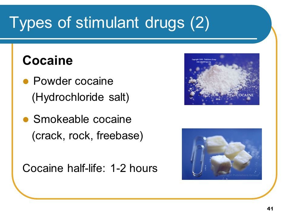 Types of stimulant drugs (2)