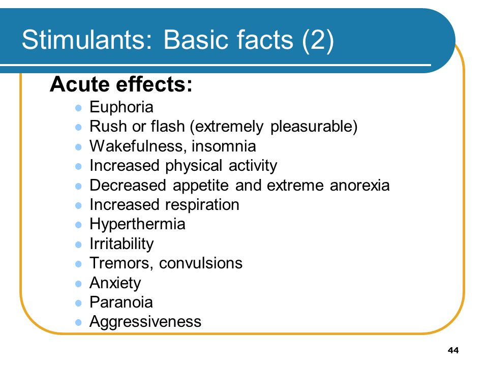 Stimulants: Basic facts (2)