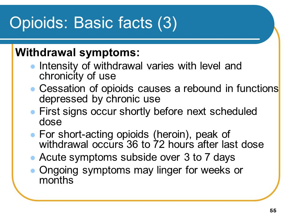 Opioids: Basic facts (3)