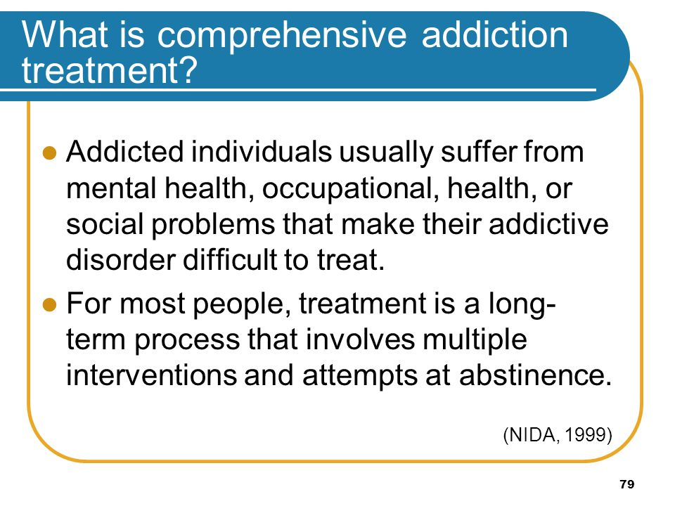 What is comprehensive addiction treatment