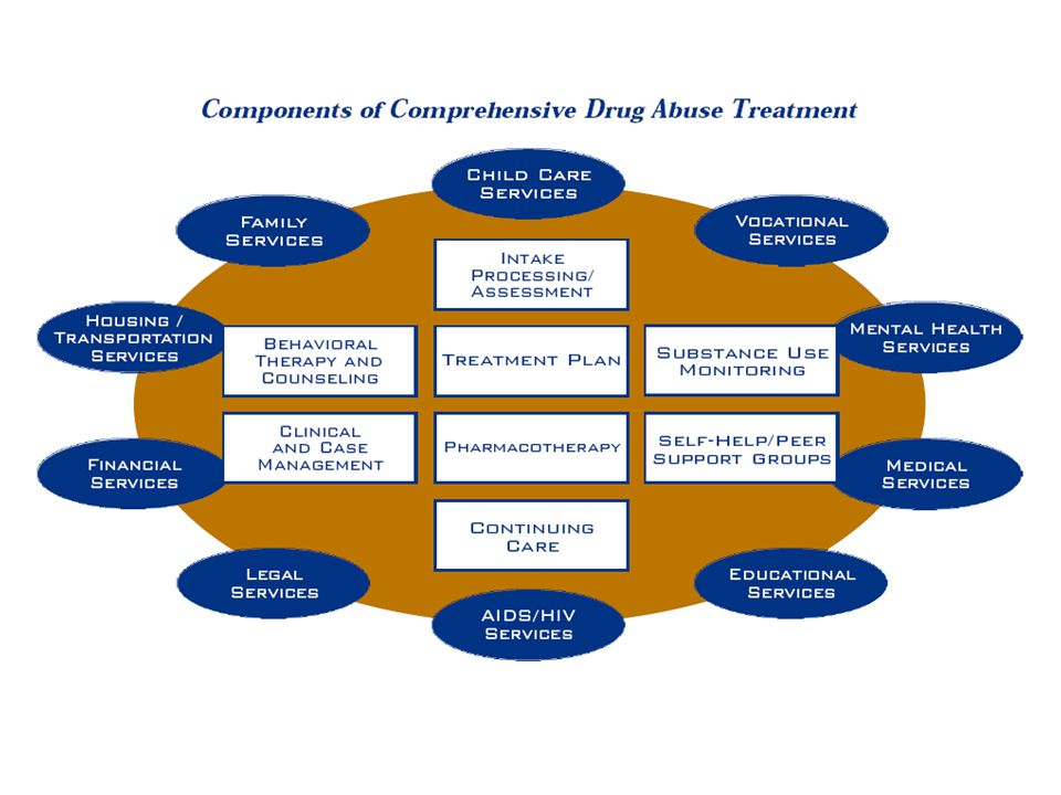 Components of comprehensive drug abuse treatment