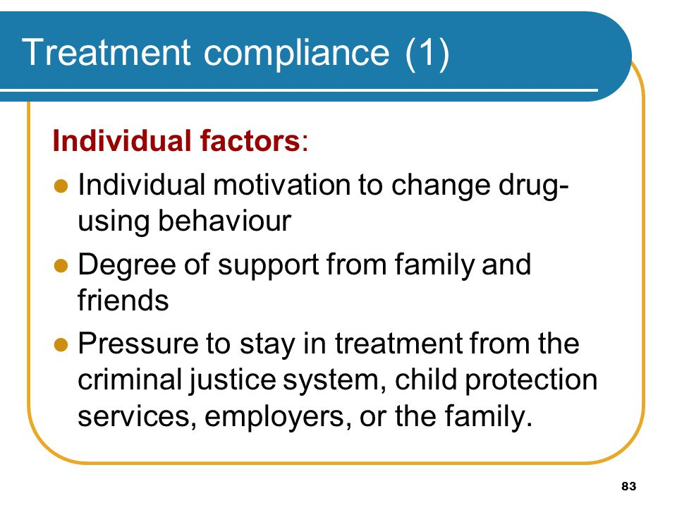 Treatment compliance (1)