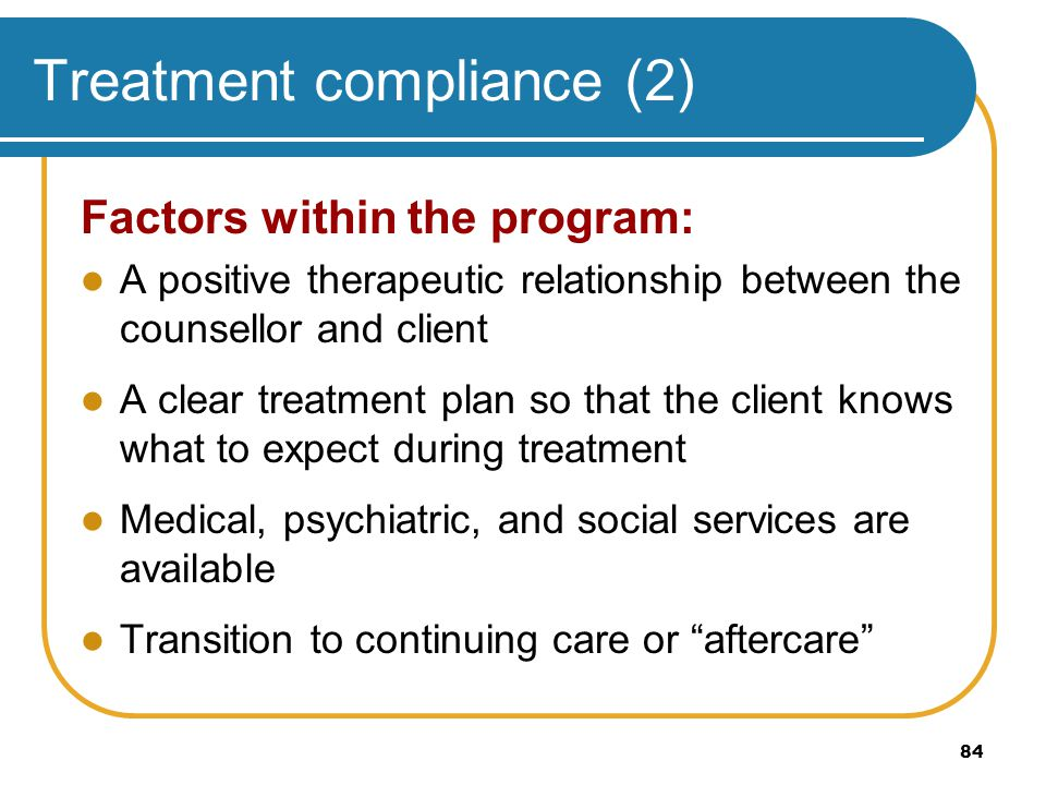 Treatment compliance (2)
