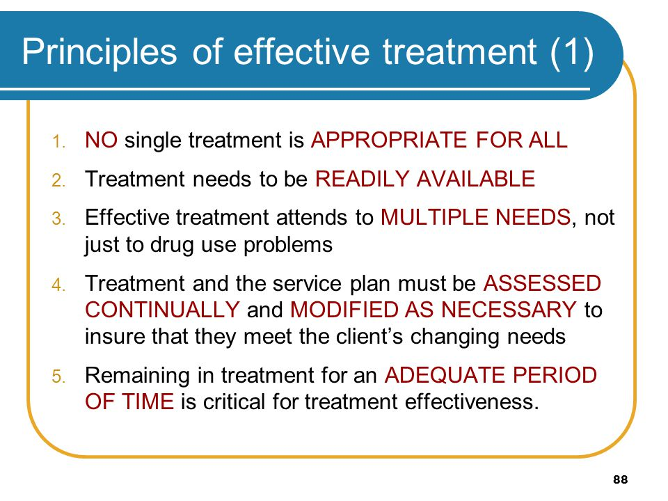 Principles of effective treatment (1)
