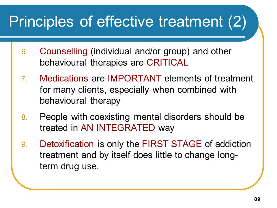 Principles of effective treatment (2)