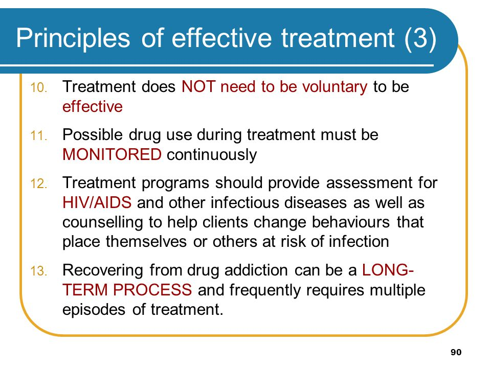 Principles of effective treatment (3)