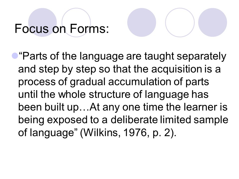 Focus on Forms:
