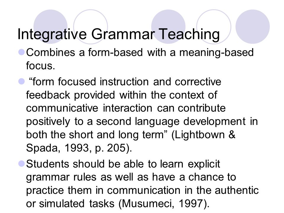 Integrative Grammar Teaching