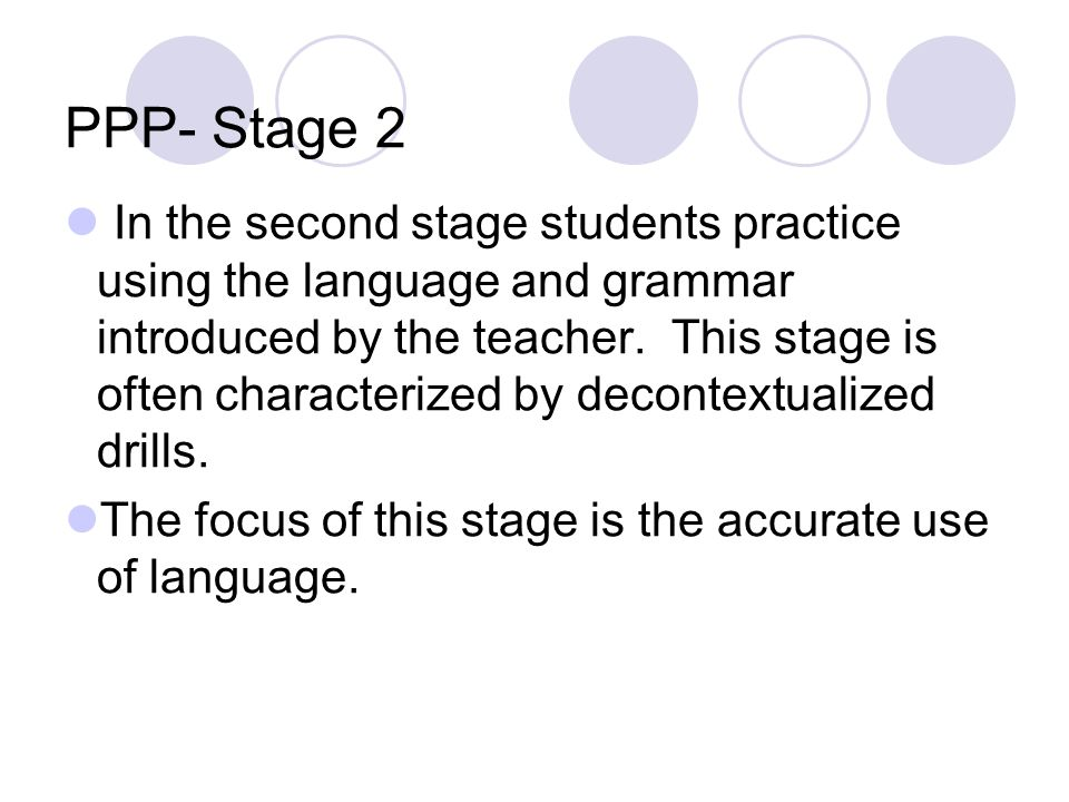 PPP- Stage 2
