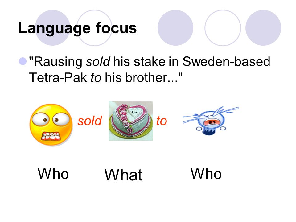 What Language focus Who Who