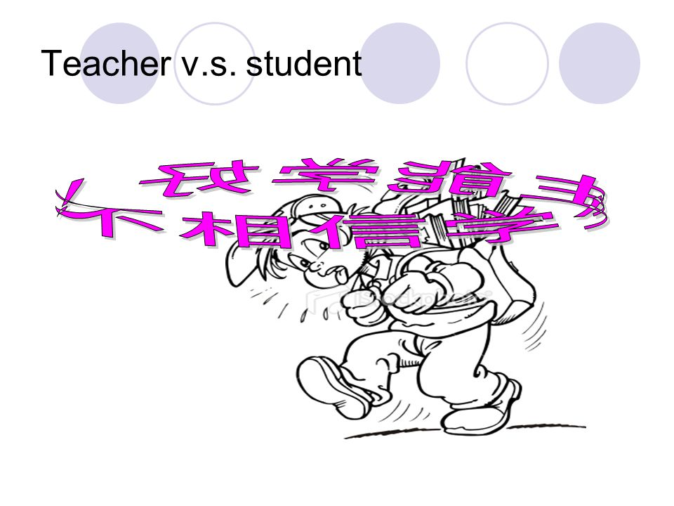 Teacher v.s. student 不相信学生能学好!