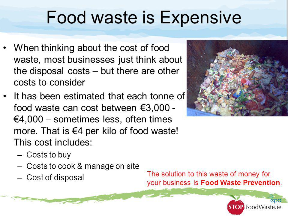 Food waste is Expensive