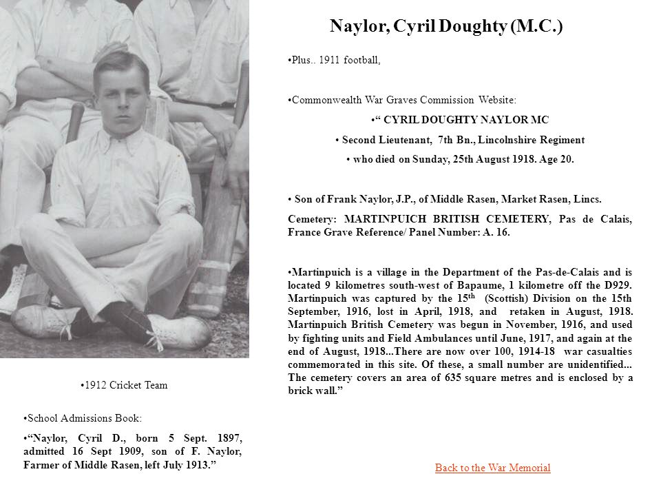 Naylor, Cyril Doughty (M.C.)
