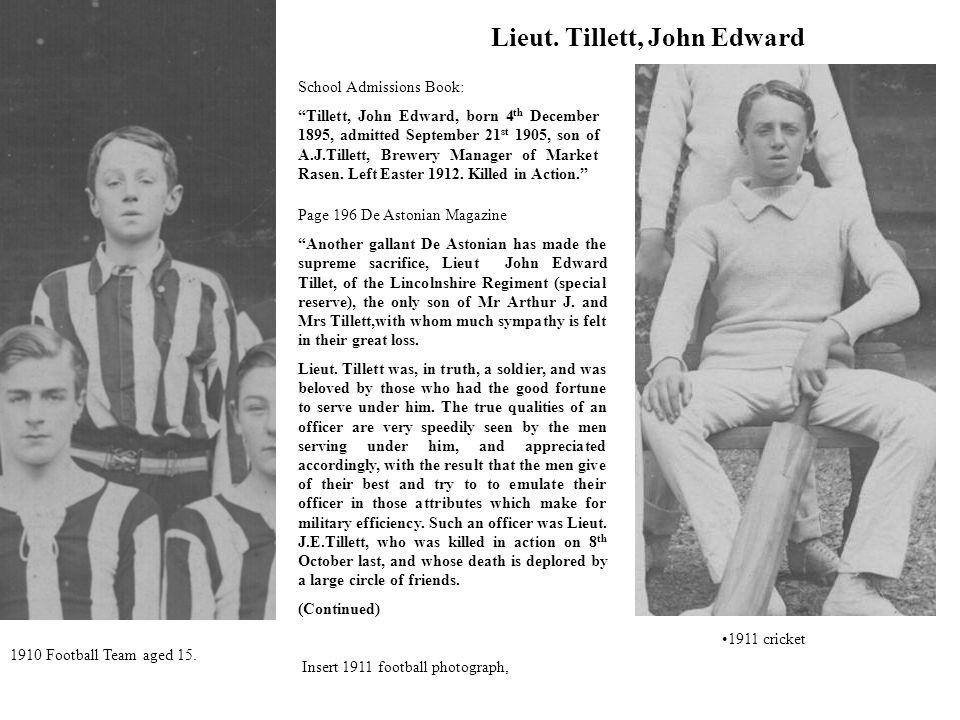 Lieut. Tillett, John Edward