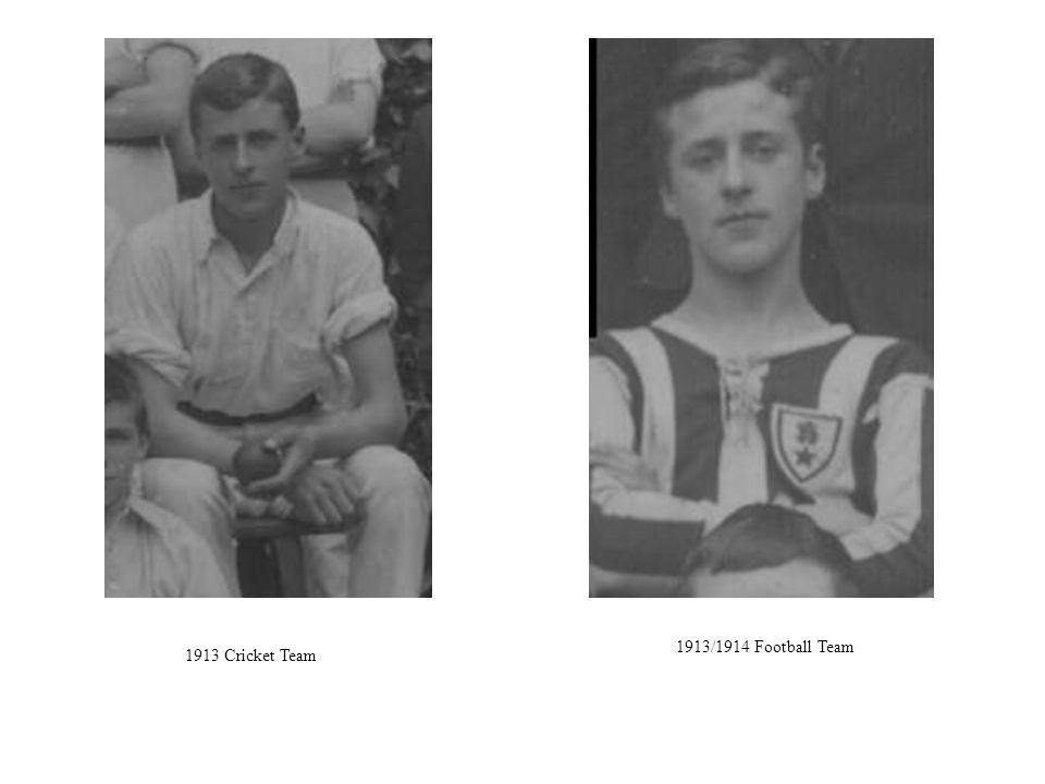 1913/1914 Football Team 1913 Cricket Team