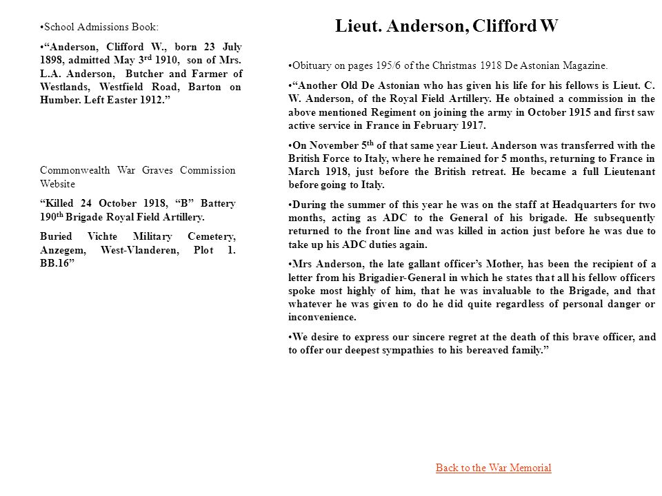 Lieut. Anderson, Clifford W