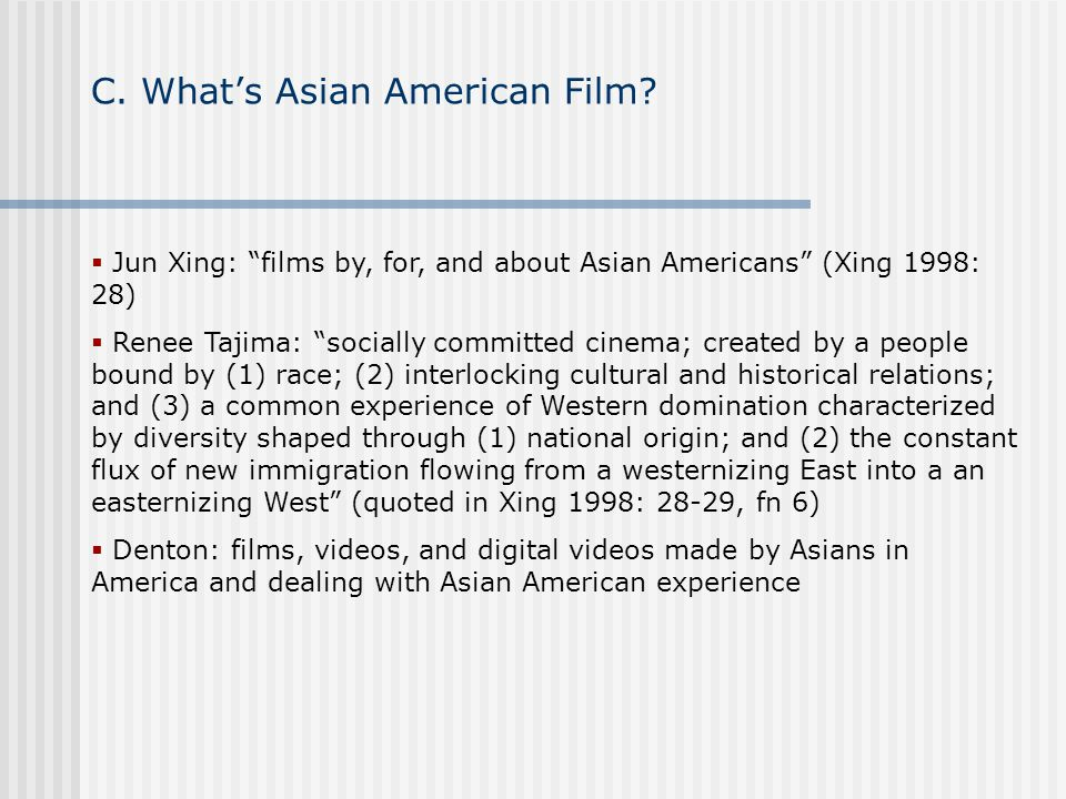 C. What's Asian American Film