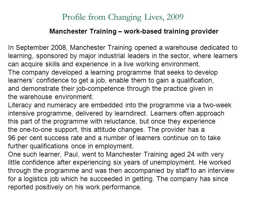 Manchester Training – work-based training provider