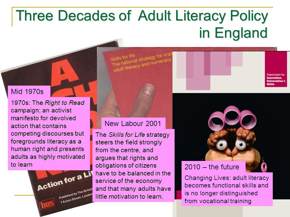 Three Decades of Adult Literacy Policy in England