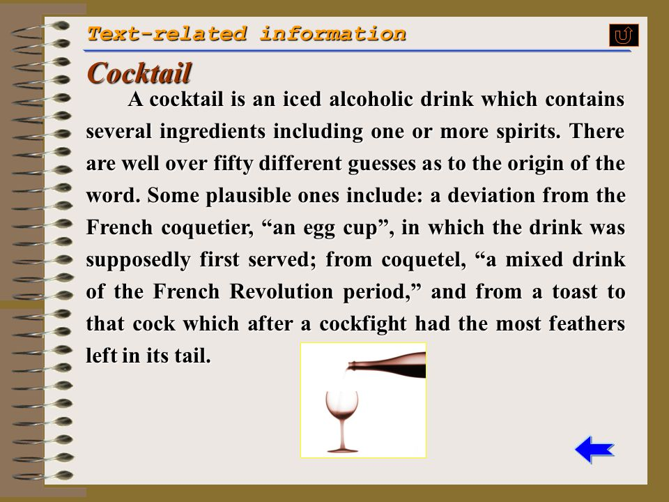 Cocktail Text-related information