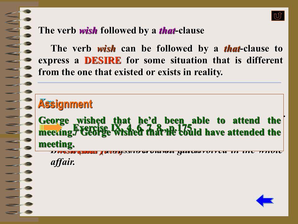 Assignment Exercise IX, p. 174 Exercise IX, p. 174 Exercise IX, p. 174