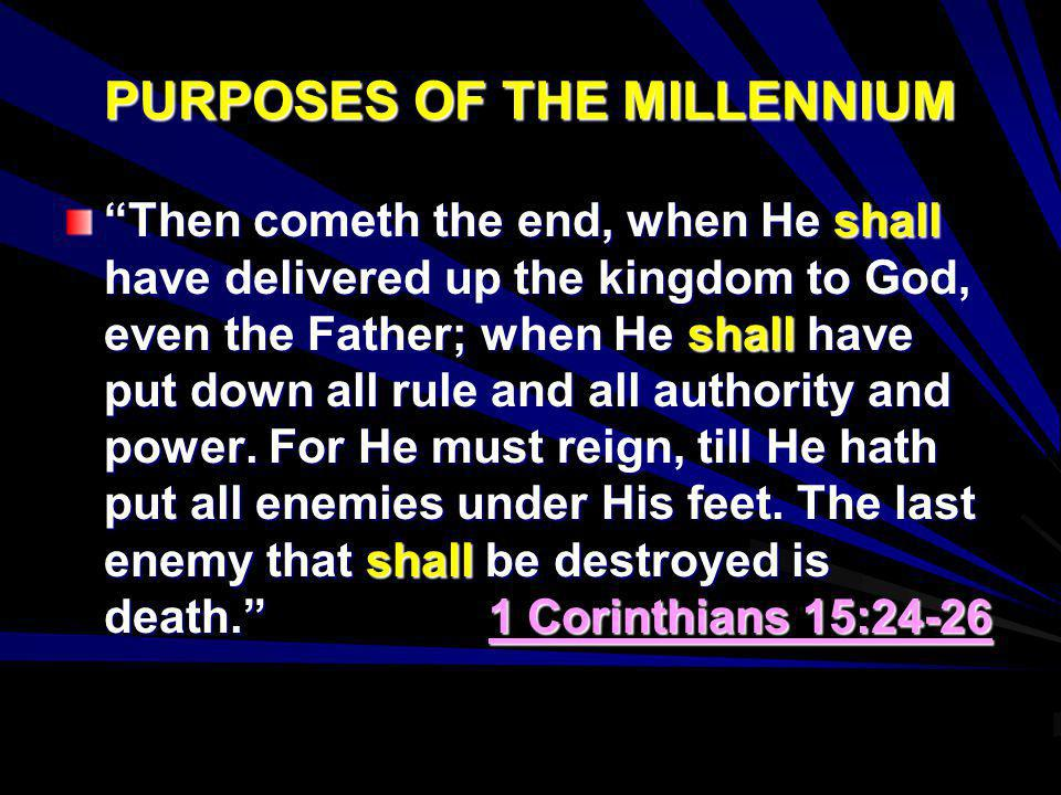 PURPOSES OF THE MILLENNIUM