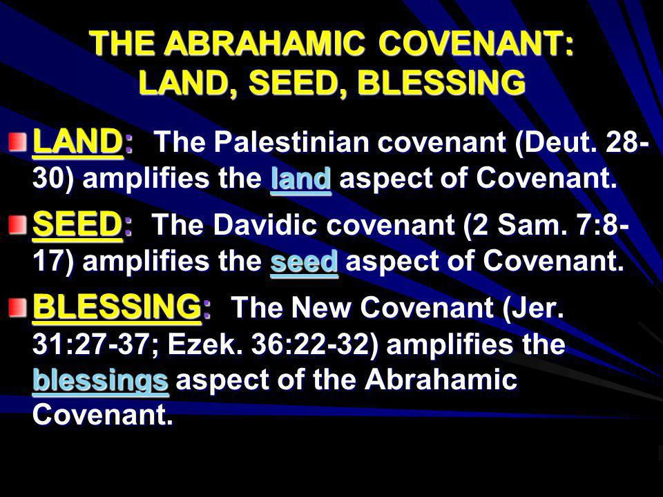 THE ABRAHAMIC COVENANT: LAND, SEED, BLESSING