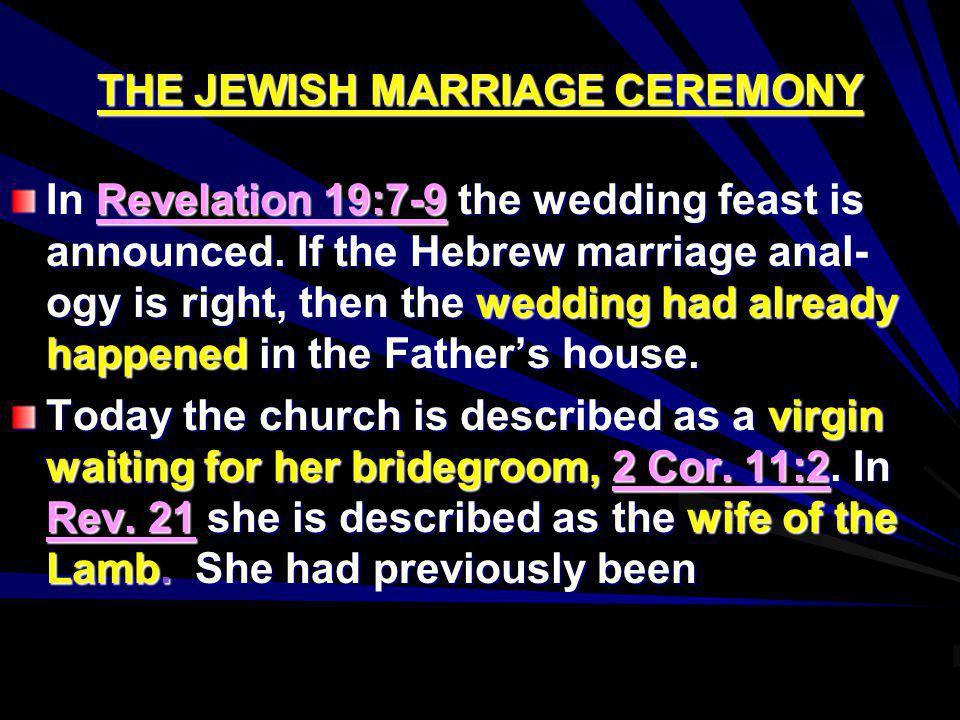 THE JEWISH MARRIAGE CEREMONY