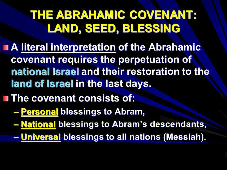 abrahamic covenant chart Chart of bible covenants, outlining the place and programme of the noahic, abrahamic, mosaic, davidic and new covenants in history and prophecy.