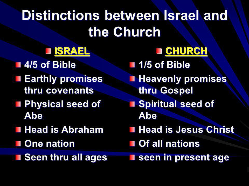 Distinctions between Israel and the Church