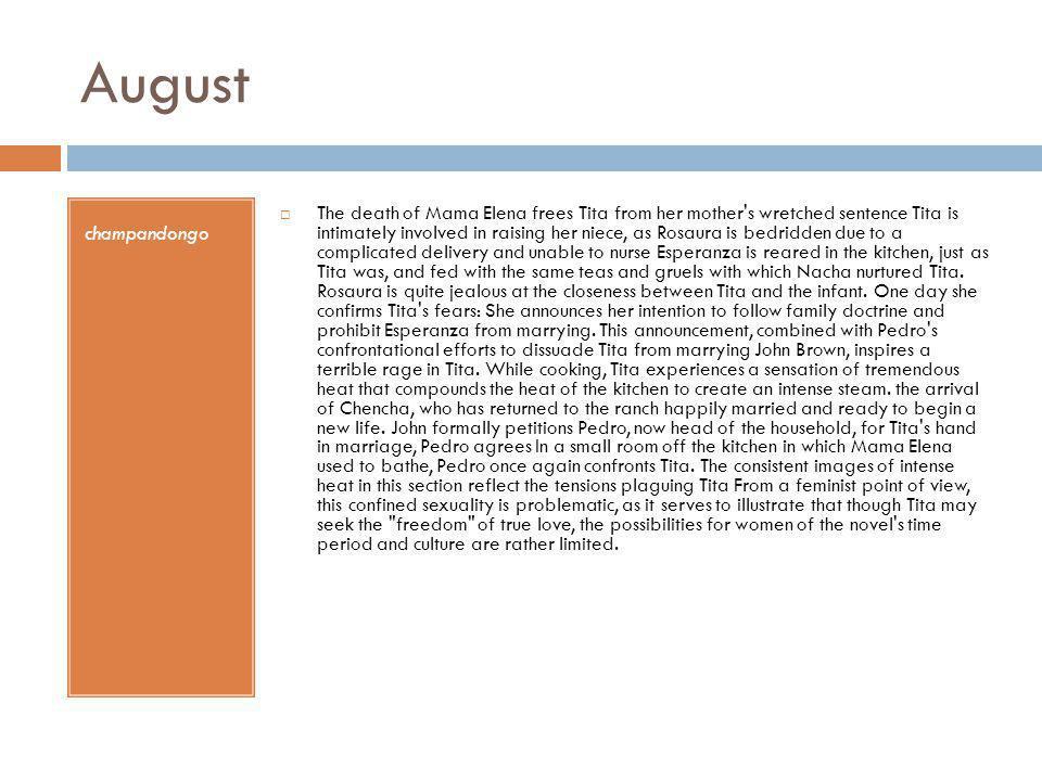 August champandongo.