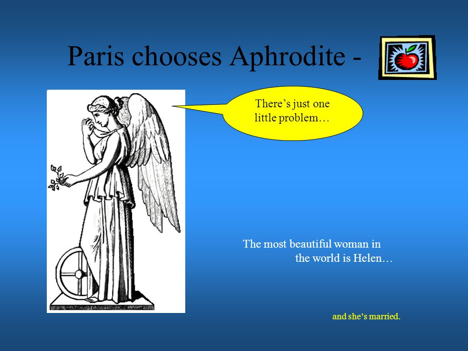 Paris chooses Aphrodite -