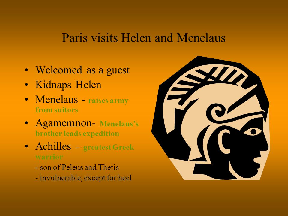 Paris visits Helen and Menelaus