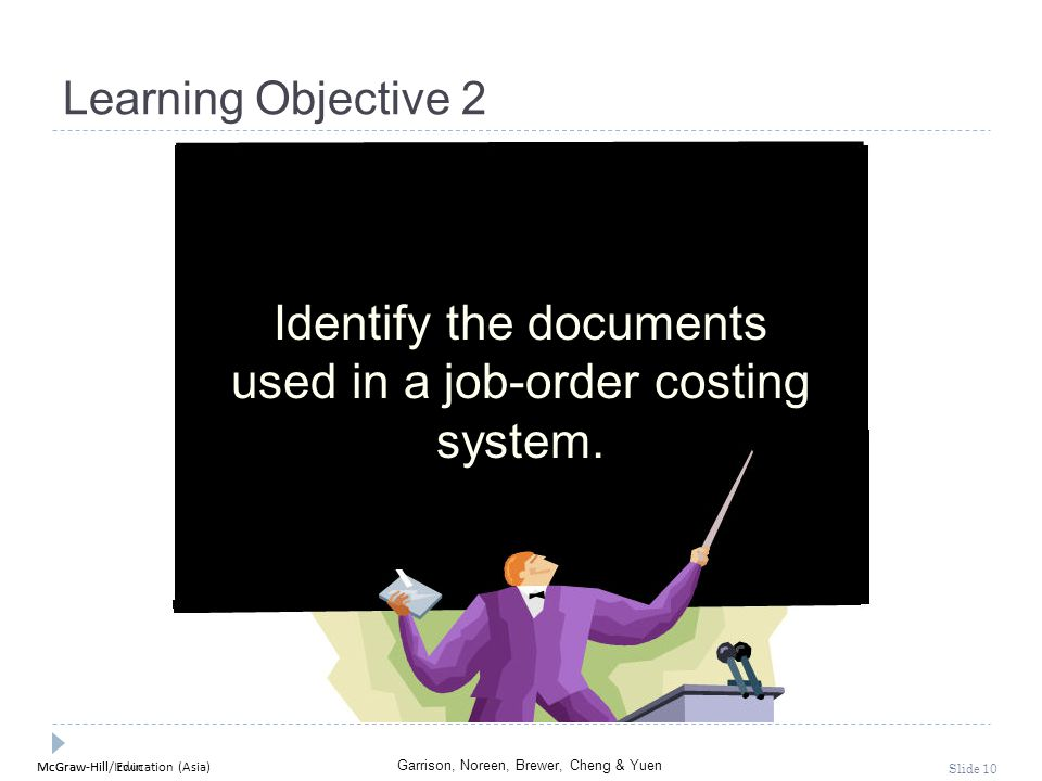 Identify the documents used in a job-order costing system.