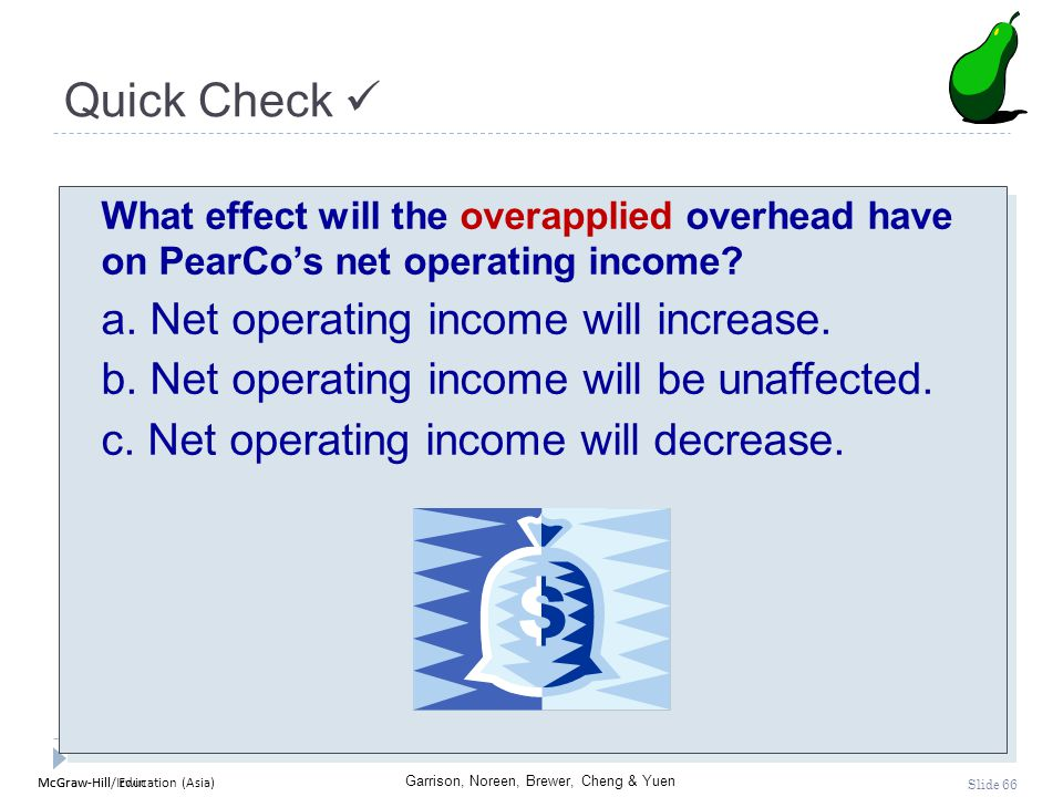 Quick Check  a. Net operating income will increase.